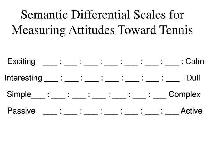 Semantic Differential Scales for Measuring Attitudes Toward Tennis