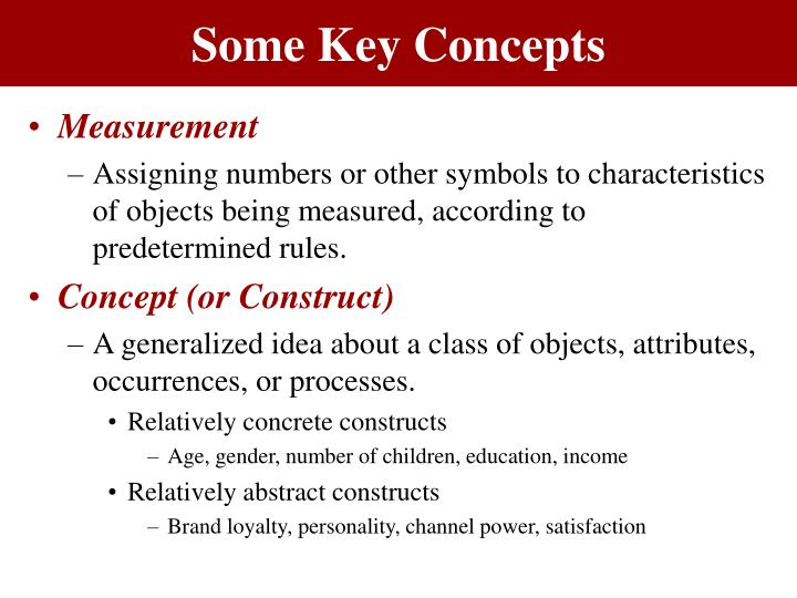 Some key concepts