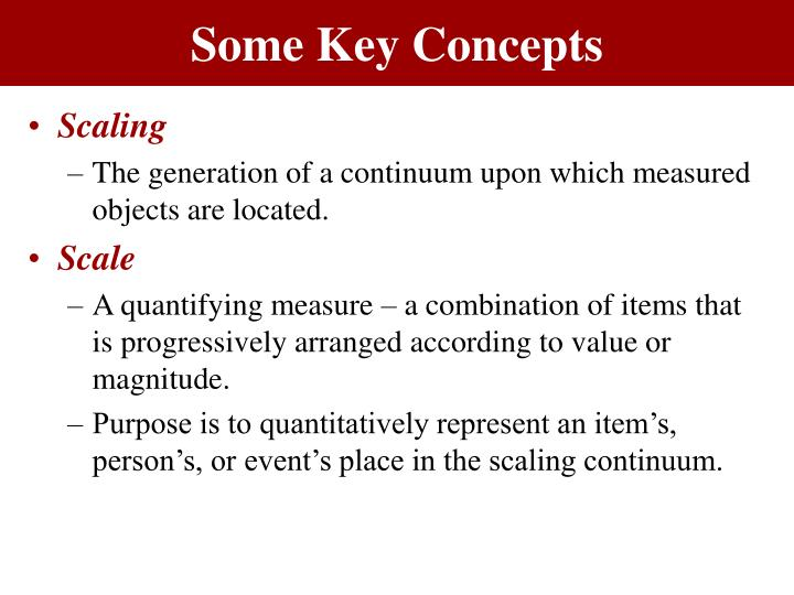 Some key concepts1