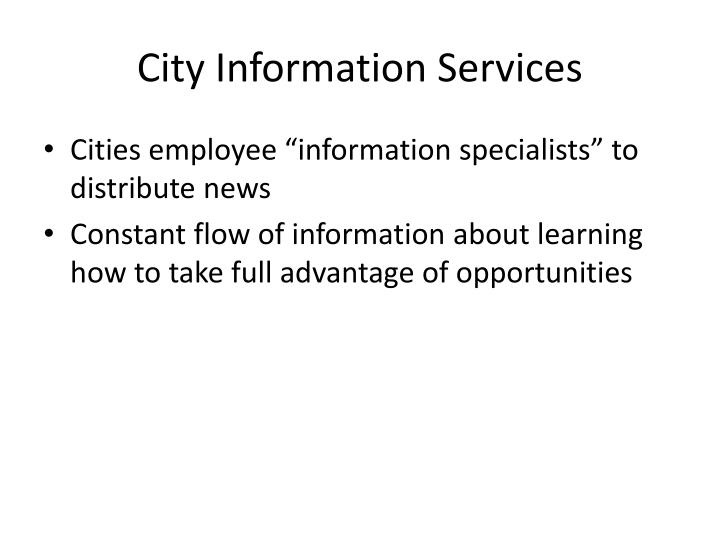 City Information Services