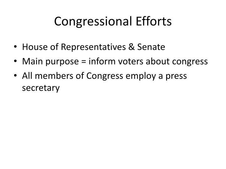 Congressional Efforts