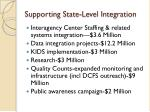 supporting state level integration