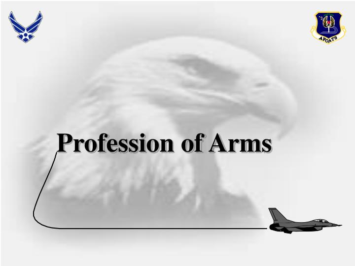 profession of arms n.