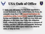 usa oath of office