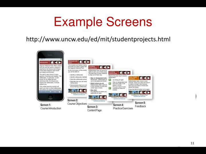 Example Screens