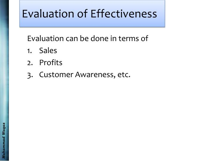 Evaluation of Effectiveness