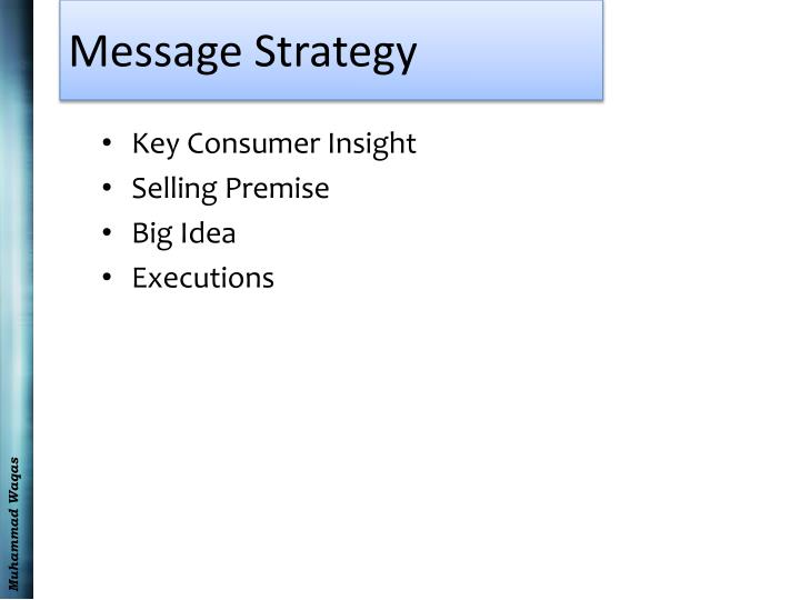 Message Strategy