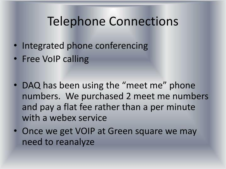 Telephone Connections