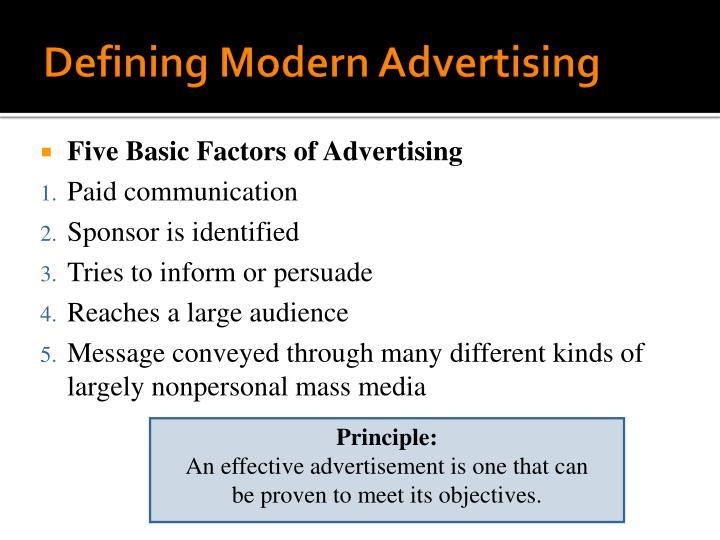 Defining Modern Advertising