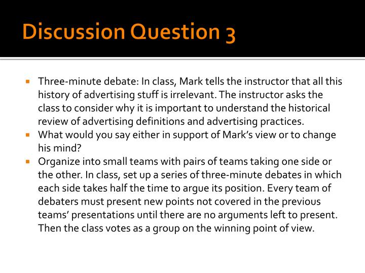 Discussion Question 3
