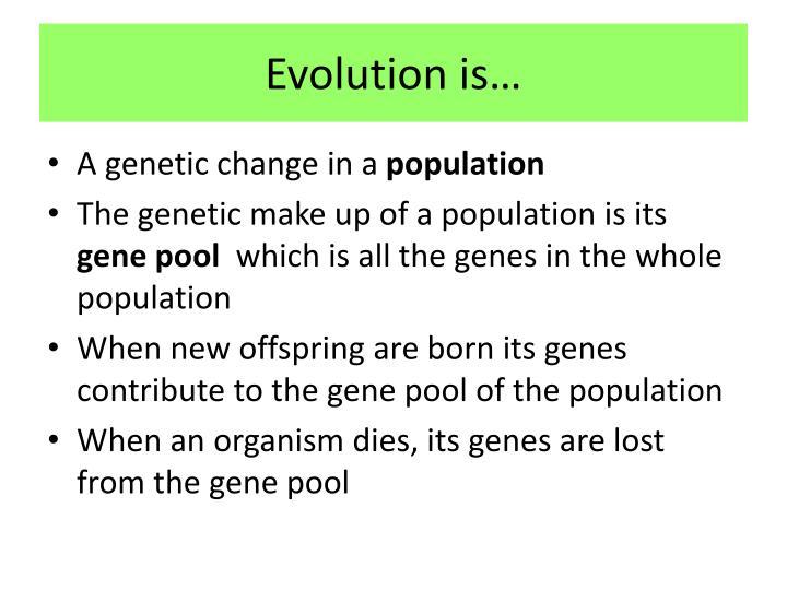 Evolution is…
