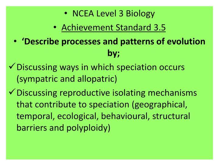 NCEA Level 3 Biology