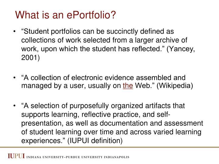 What is an eportfolio