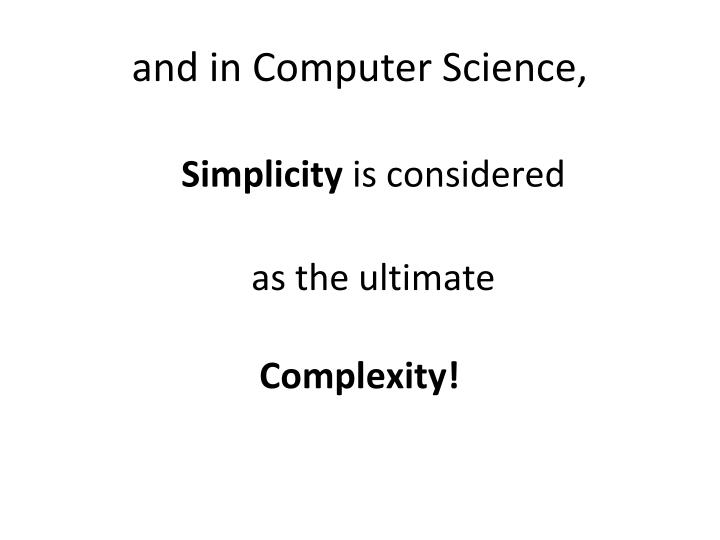 and in Computer Science,