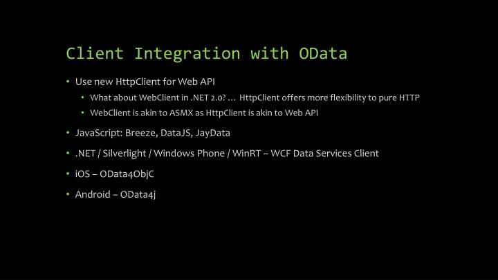 Client Integration with