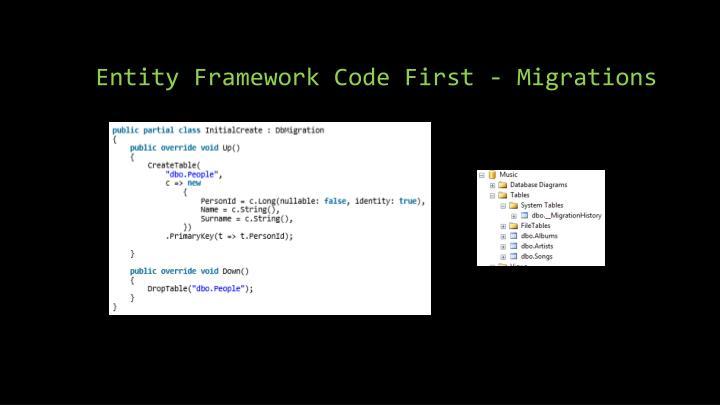 Entity Framework Code First - Migrations
