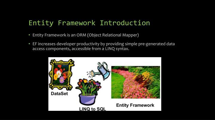 Entity Framework Introduction