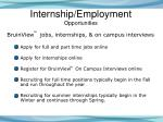 internship employment opportunities