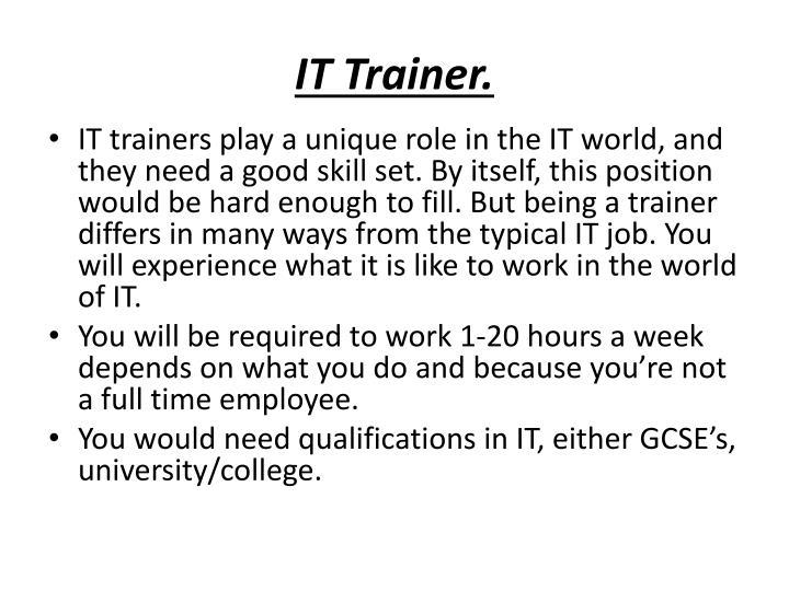 IT Trainer.