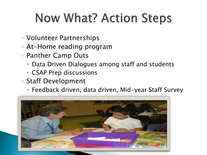 Now What? Action Steps