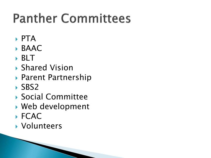 Panther Committees