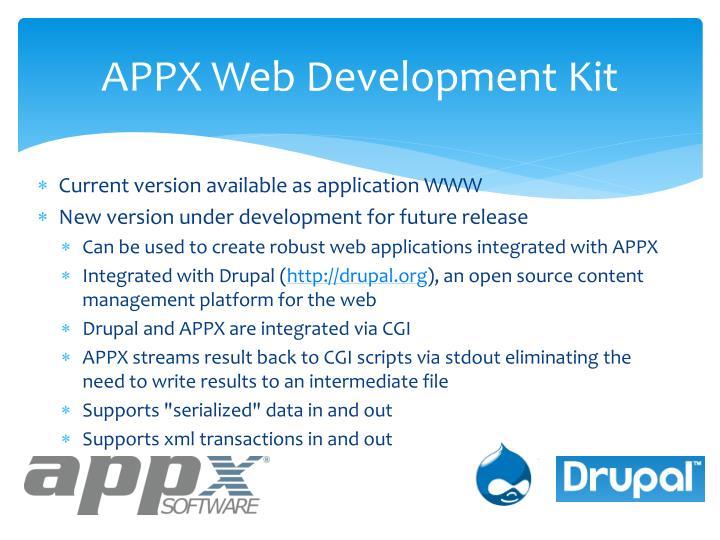 Appx web development kit1
