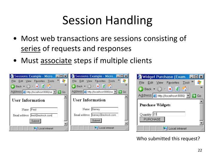 Session Handling