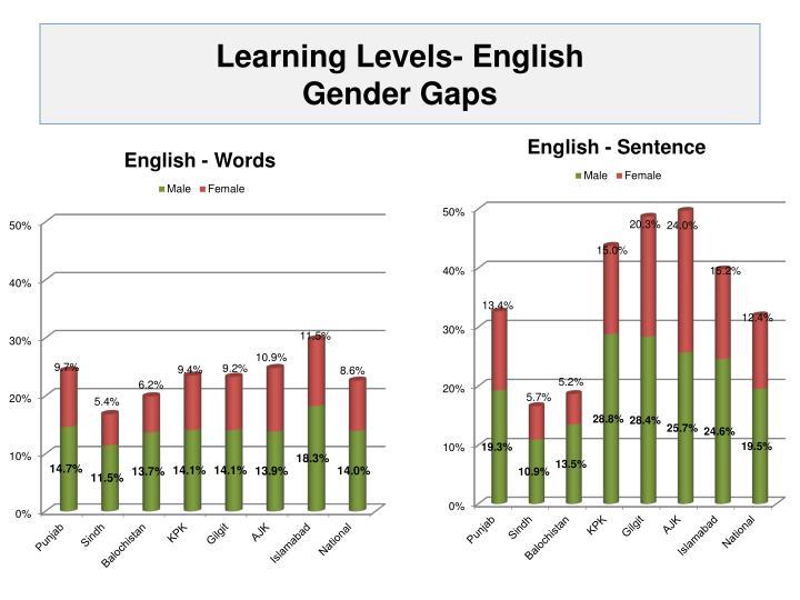 Learning Levels- English