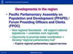 developments in the region4