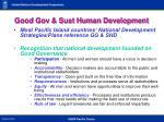 good gov sust human development