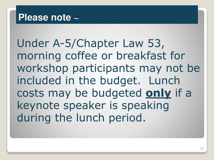 Under A-5/Chapter Law 53,