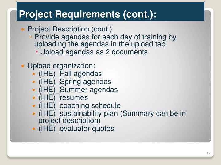 Project Description (cont.)