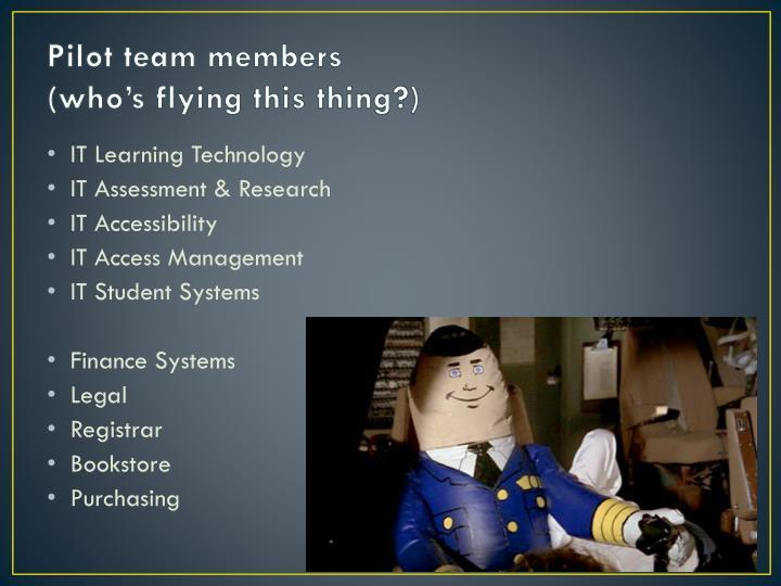 Pilot team members