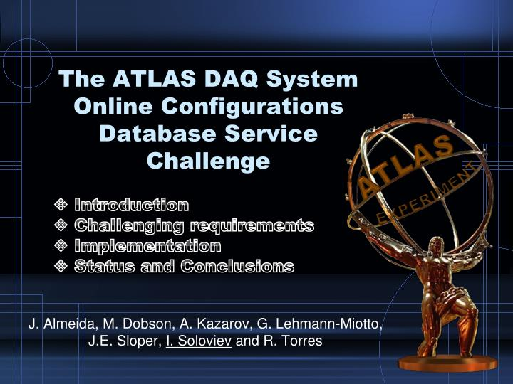 the atlas daq system online configurations database service challenge n.