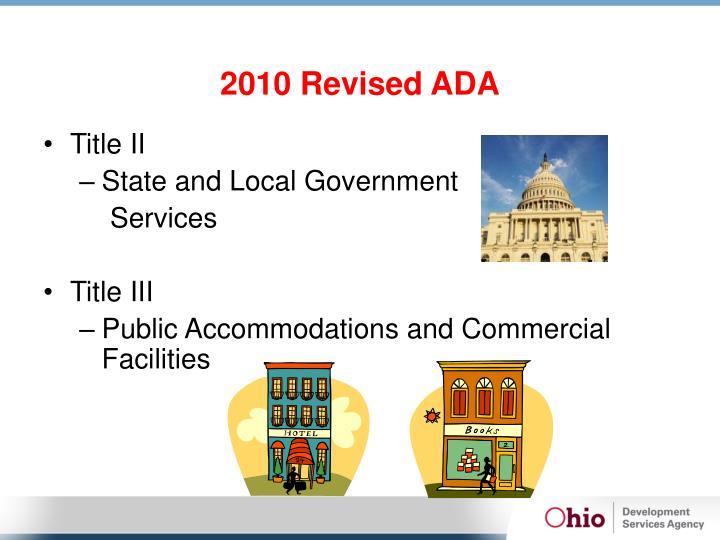 2010 revised ada