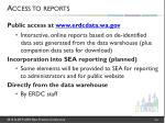 access to reports