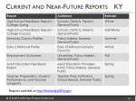 current and near future reports ky