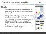 data presentation and use ky