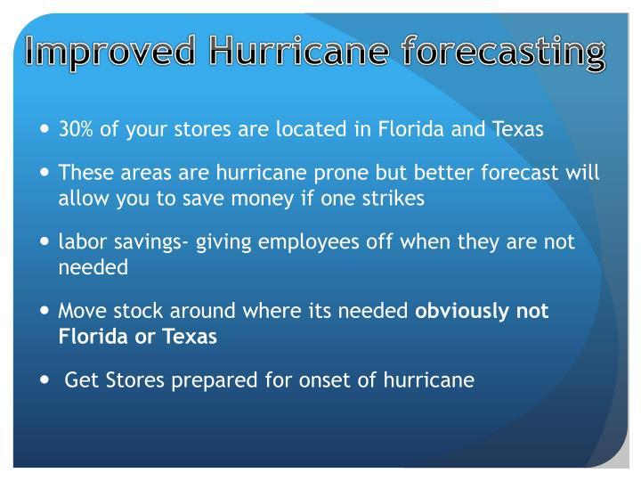 Improved Hurricane forecasting