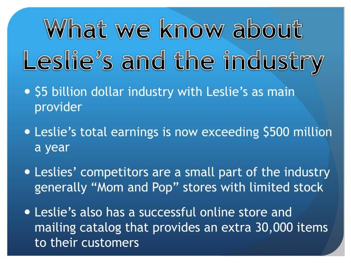 What we know about Leslie's and the industry