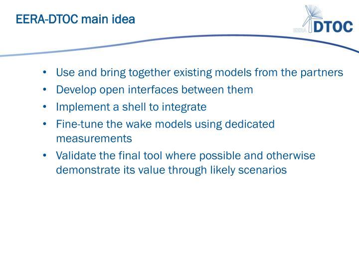 EERA-DTOC main idea