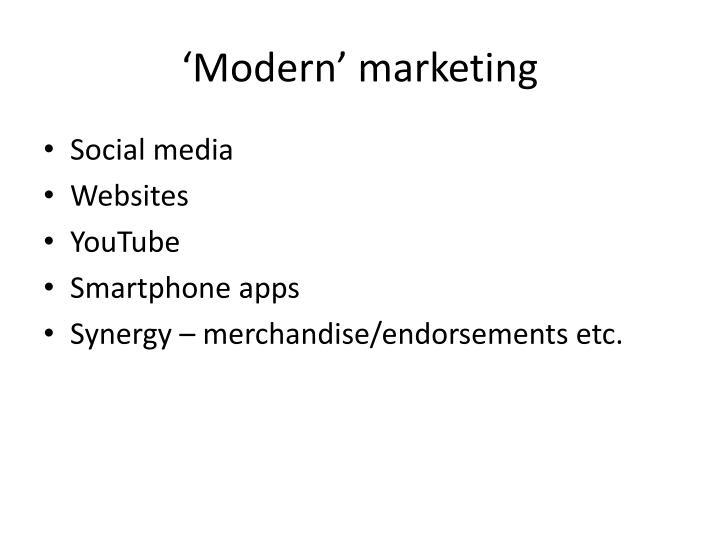 'Modern' marketing