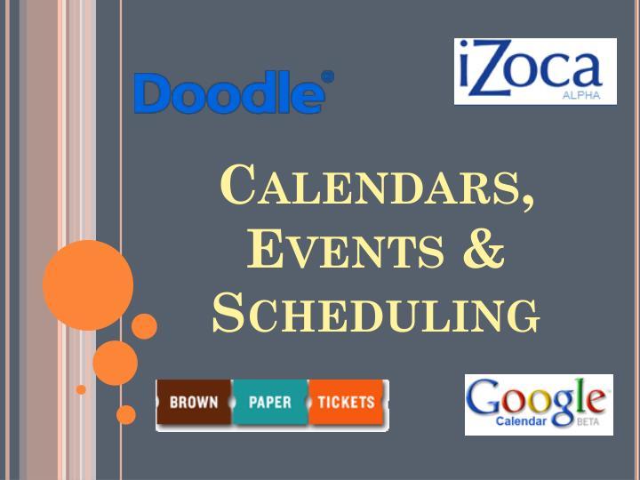 Calendars, Events & Scheduling