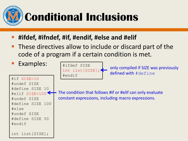Conditional Inclusions