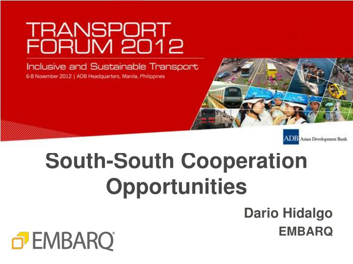 south south cooperation opportunities n.