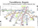 transmilenio bogot 104 km brt integrated system 7 million trips per day