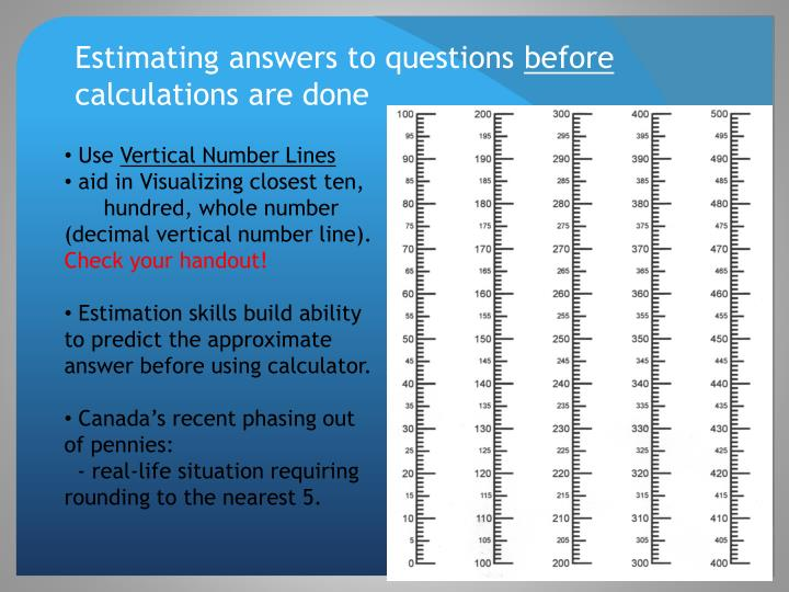 Estimating answers to questions