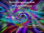written assignments from ap english literature