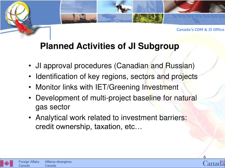 Planned Activities of