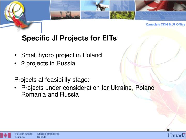 Specific JI Projects for EITs